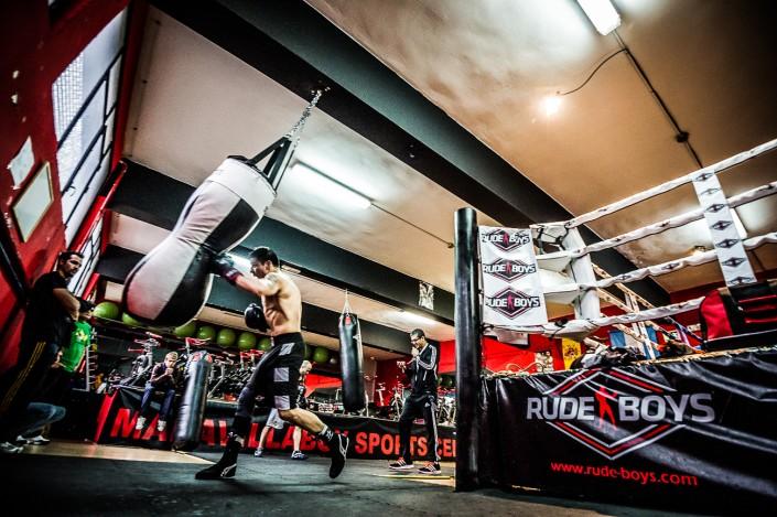 Entrenamiento boxing de Maravilla Martinez. Sesion fotografica para Rude Boys