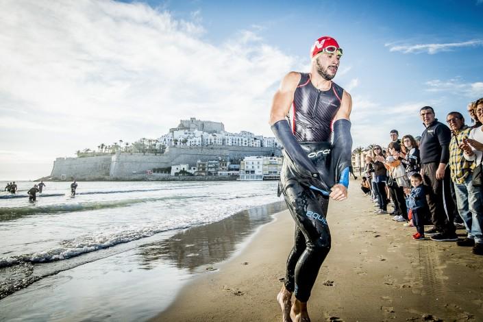 Fotografia deportiva del triatlon Tritan MD Peñiscola 2014